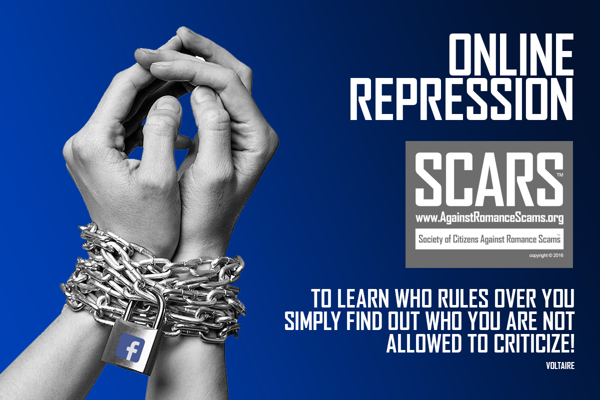 SCARS ™ / RSN™ Anti-Scam Poster: Online Repression 59