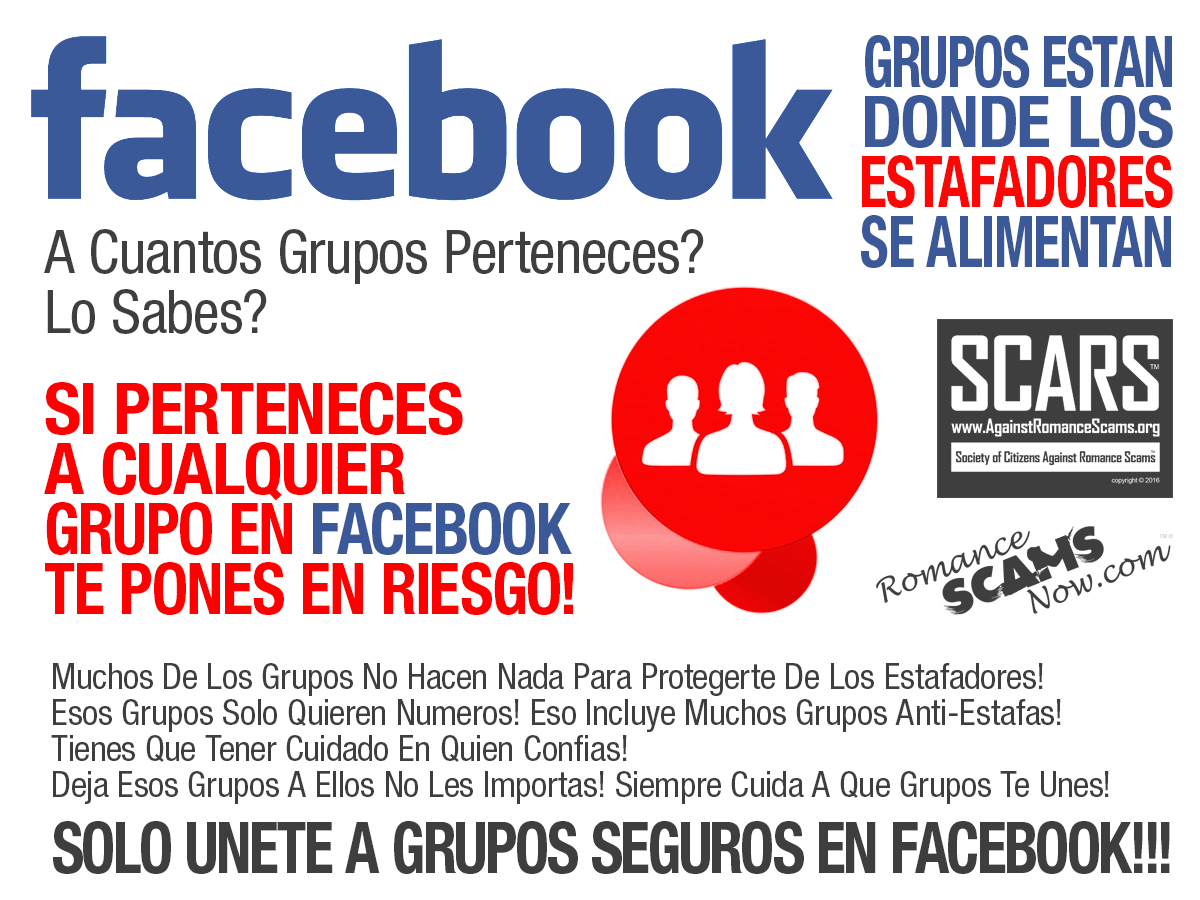 SCARS ™ / RSN™ Anti-Scam Poster: Grupos 1