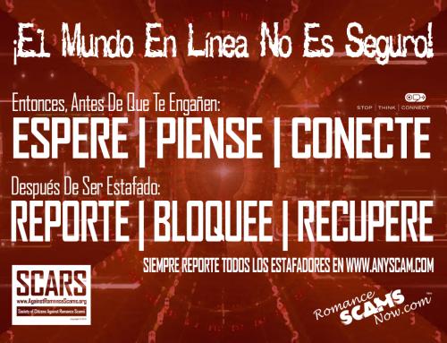 SCARS|RSN™ Anti-Scam Poster: El Mundo No Es Seguro