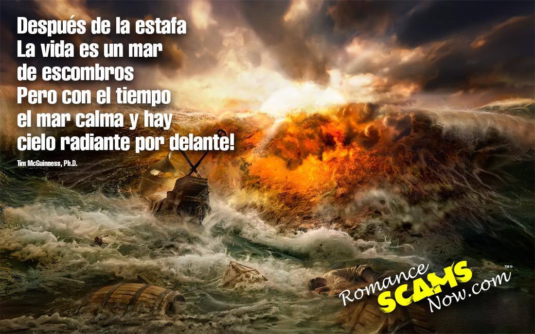 SCARS ™ / RSN™ Anti-Scam Poster: Despues De La Tromenta 22
