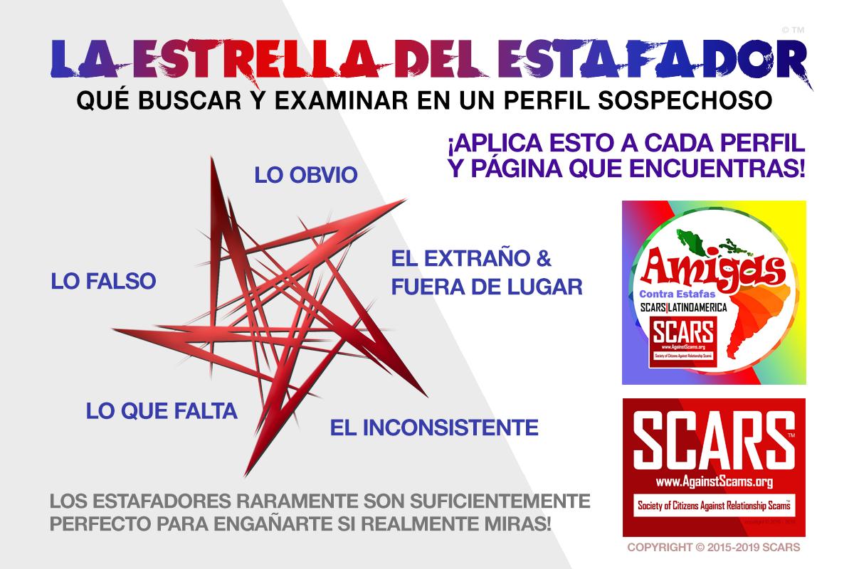 SCARS ™ / RSN™ Anti-Scam Poster: Estrella 1