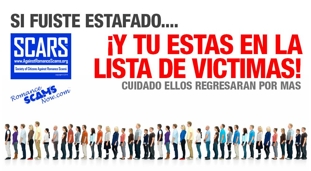SCARS ™ / RSN™ Anti-Scam Poster: Si Fuiste Estafado 1