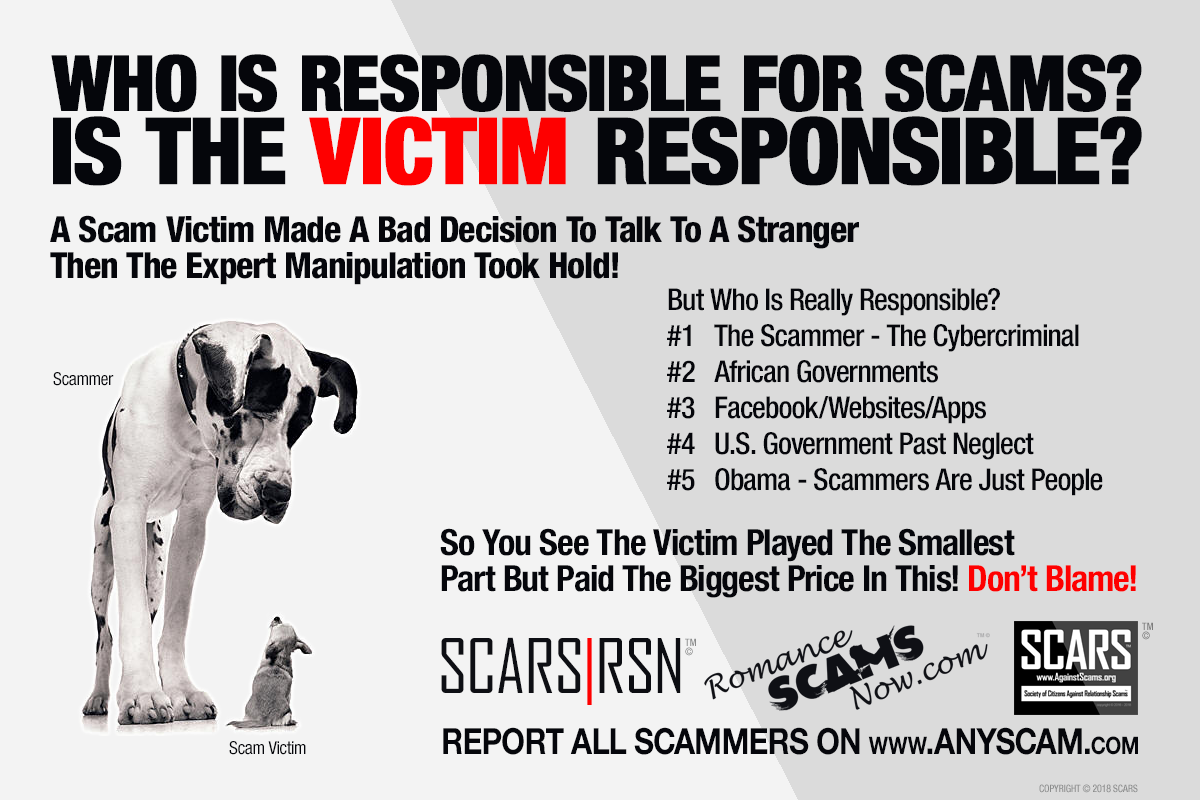SCARS|RSN™ Anti-Scam Poster: Who Is Responsible For Scams 4
