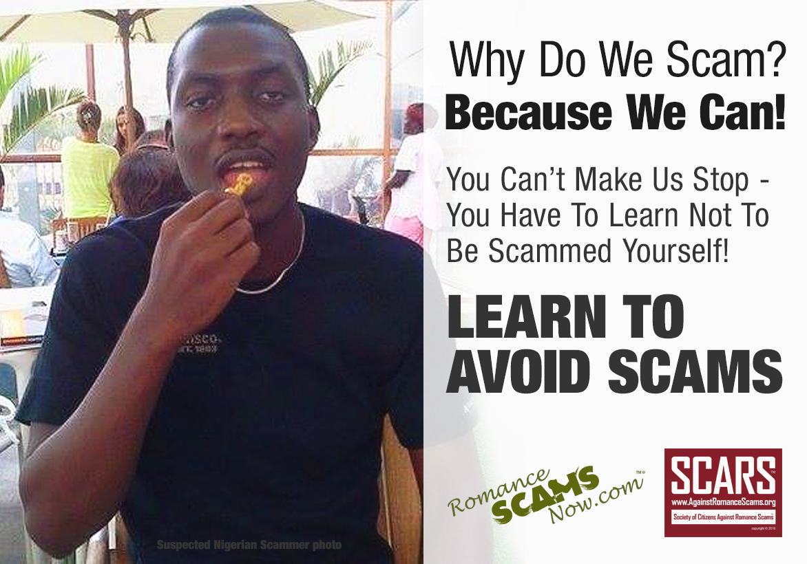 Why Do We Scam? Because We Can!