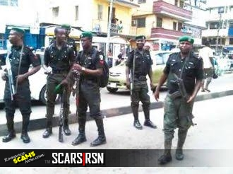 Suspected yahoo boys arrested as they sprayed money in secondary school in Nigeria's Delta State