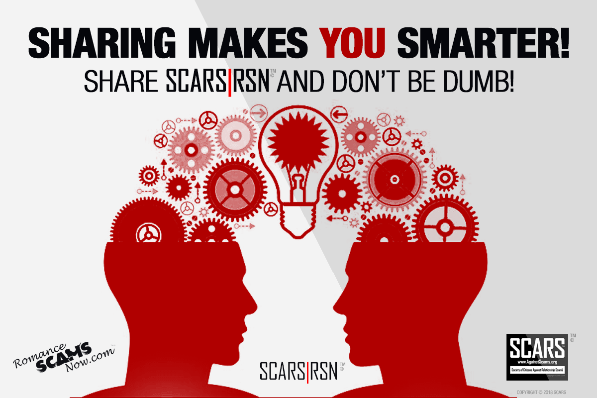 SCARS|RSN™ Anti-Scam Poster: Sharing Makes You Smarter 1