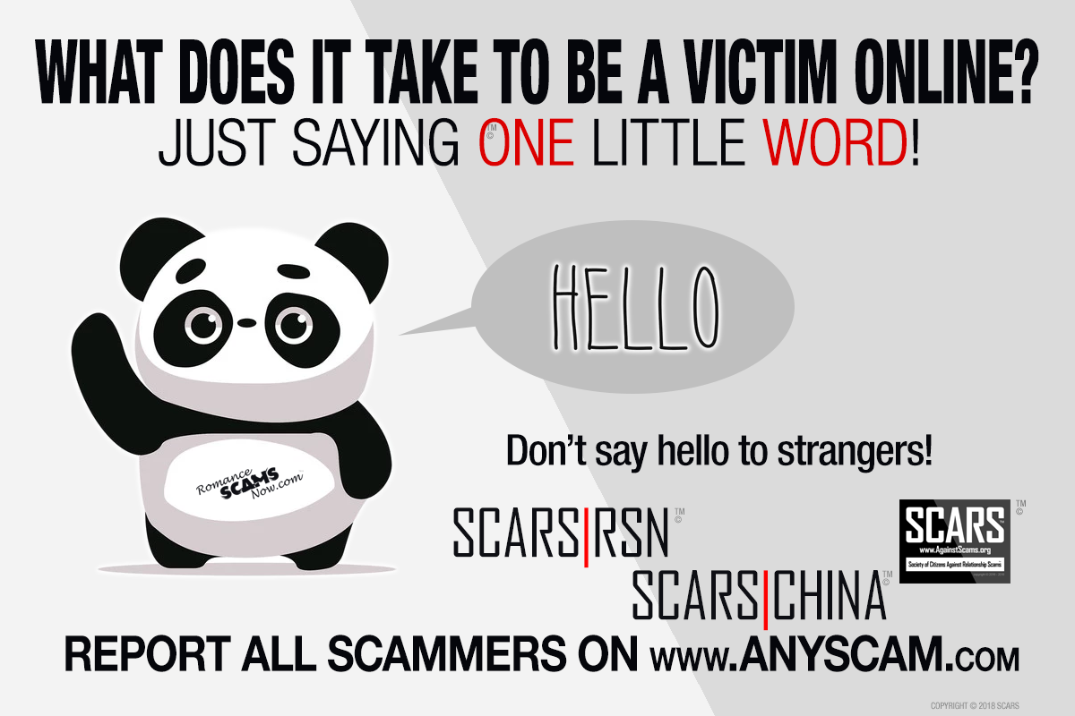 SCARS|RSN™ Anti-Scam Poster: One Simple Little Word 2
