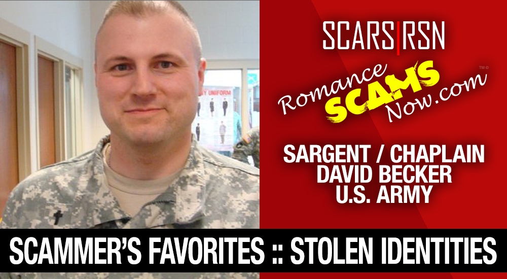 SCARS|RSN™ Stolen Face / Stolen Identity - Sargent / Chaplain David Becker U.S. Army: Do You Know Him? 2