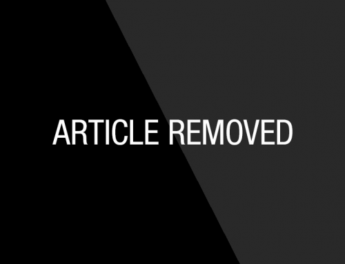 Article Removed At The Request Of The Author