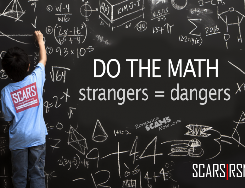 Do The Math: Strangers=Dangers – SCARS|RSN™ Anti-Scam Poster