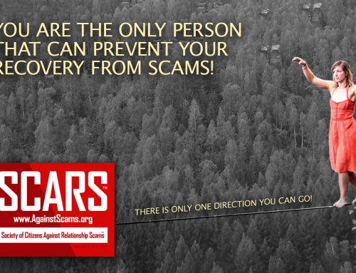 You Are The Only Person That Can Prevent Your Recovery – SCARS|RSN™ Anti-Scam Poster