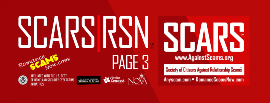SCARS RSN Romance Scams Now : Information Page #3