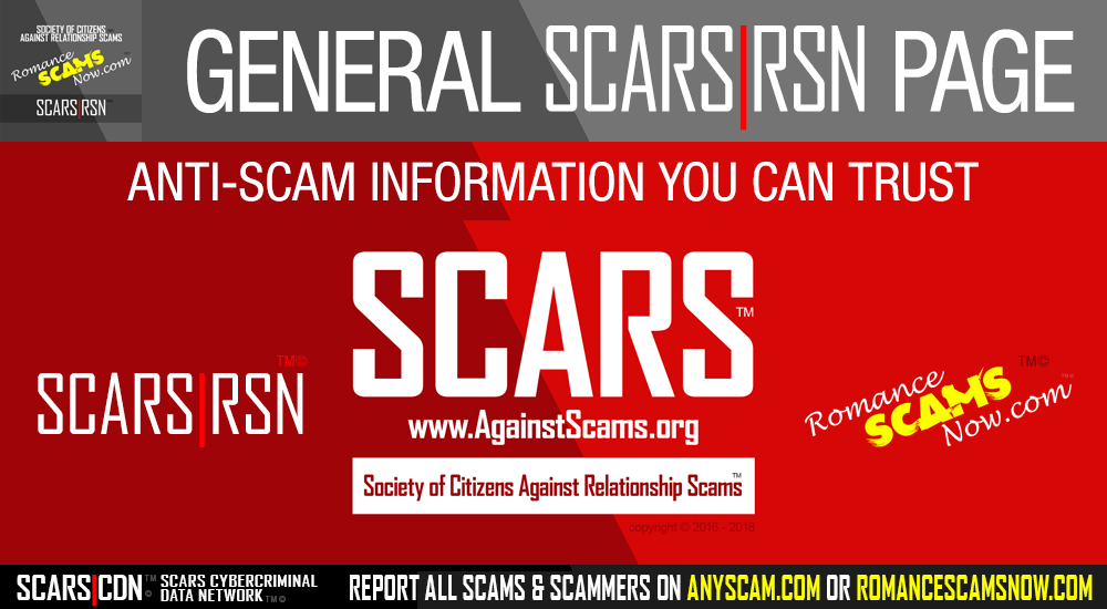 SCARS RSN Romance Scams Now Principal Facebook Pages