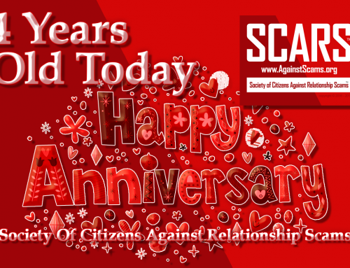 Happy 4th Anniversary Scars – SCARS|RSN™ Anti-Scam Poster