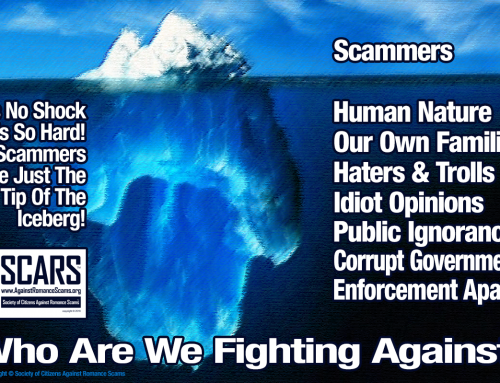 Who Are We Fighting? – SCARS|RSN™ Anti-Scam Poster