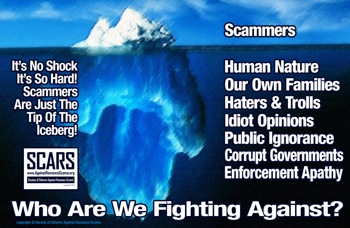 Who Are We Fighting? - SCARS|RSN™ Anti-Scam Poster 18