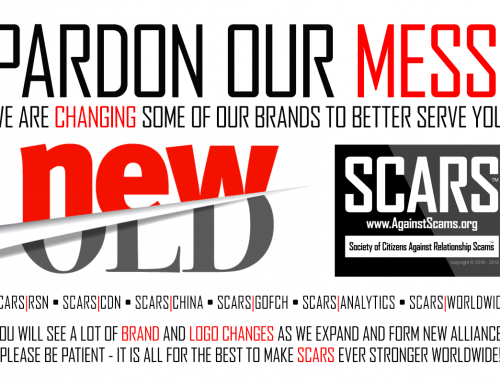 Pardon Our Mess – SCARS|RSN™ Anti-Scam Poster