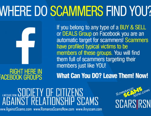 How Do Scammers Find You? – SCARS|RSN™ Anti-Scam Poster