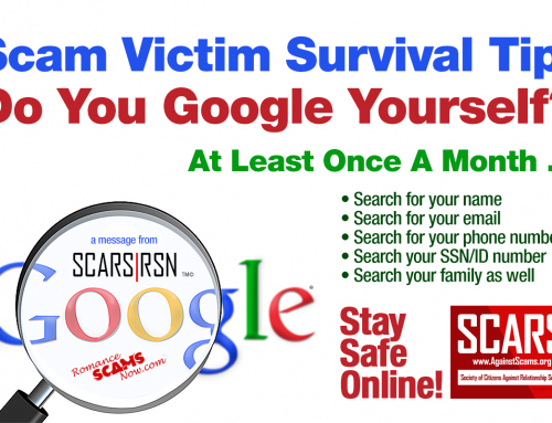 Google Yourself Monthly – SCARS|RSN™ Anti-Scam Poster