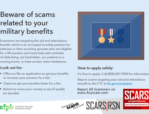 Veteran Scams Infographic – SCARS|RSN™ Anti-Scam Poster