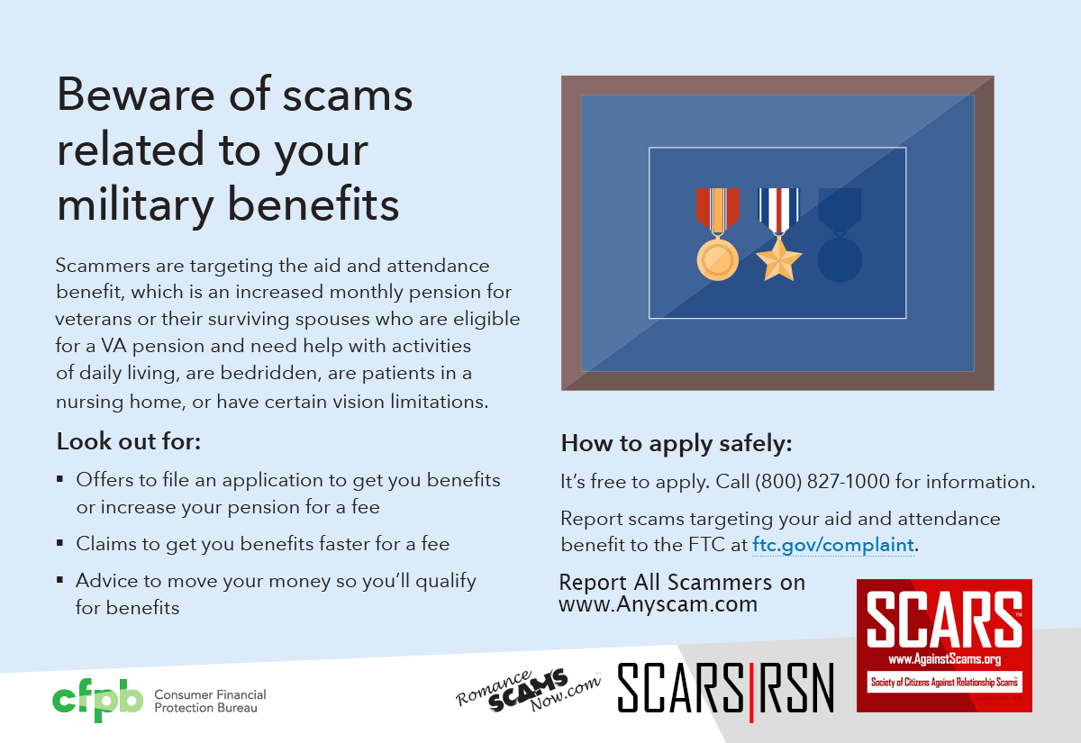 Veteran Scams Infographic - SCARS|RSN™ Anti-Scam Poster 20