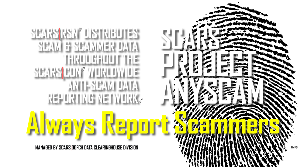 RomanceScamsNow.com is a part of the SCARS™ Anti-Scam Data Reporting Network™