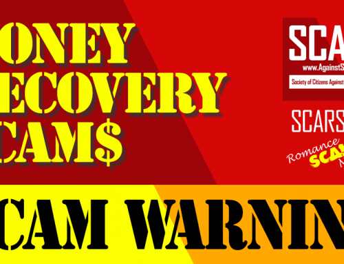 Money Recovery Scams – SCARS|RSN™ WARNING