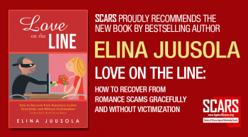 New Book From Best Selling Author Elina Juusola – Love on the Line:: How to Recover from Romance Scams Gracefully and Without Victimisation  – SCARS|RSN™ Recovery