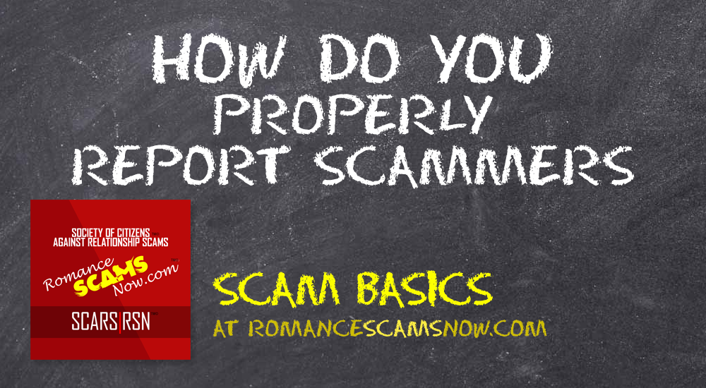 SCARS|RSN™ Scam Basics: How Do You Properly Report Scammers? 4
