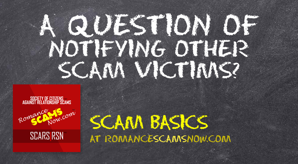 SCARS|RSN™ Scam Basics: The Ethics Of Warning Other Victims 1