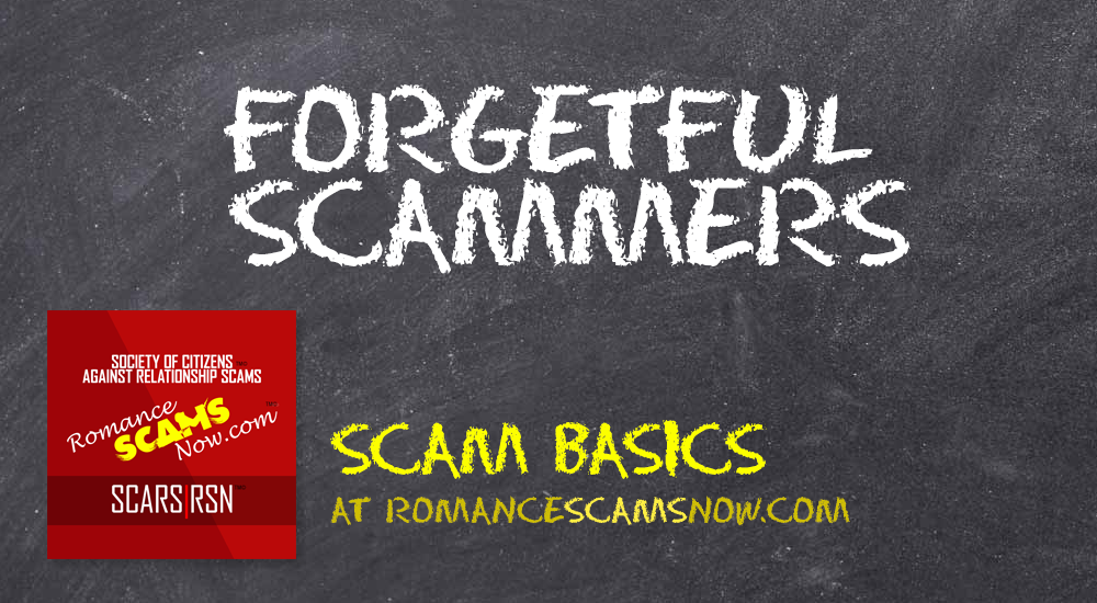SCARS™ Scam Basics: Forgetful Scammers 1