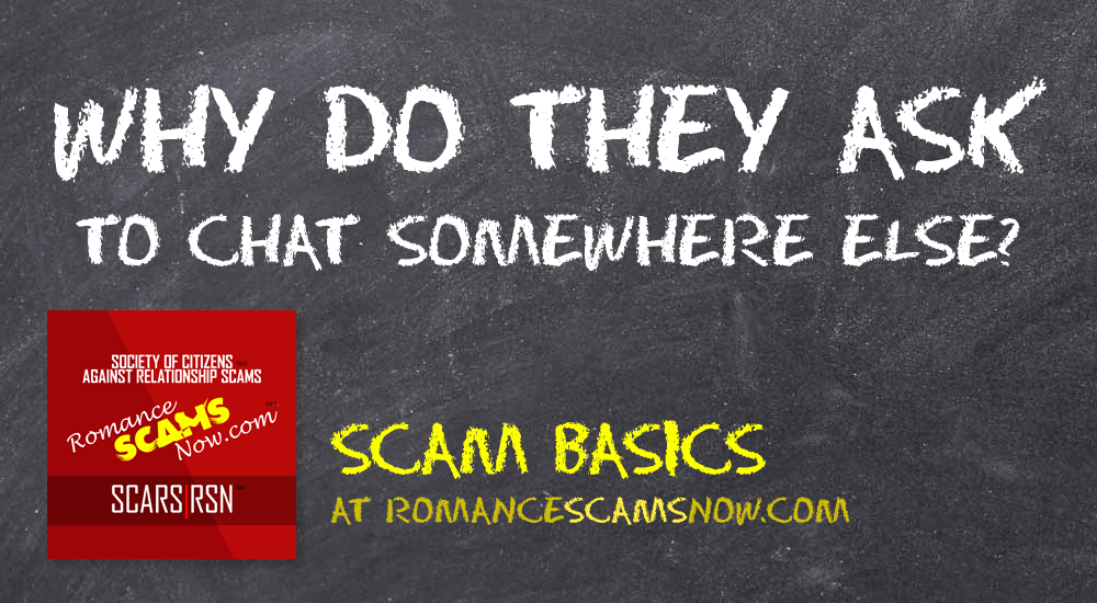 Why Do Scammers Always Ask You To Chat Somewhere Else? - SCARS|RSN™ Scam Basics 1