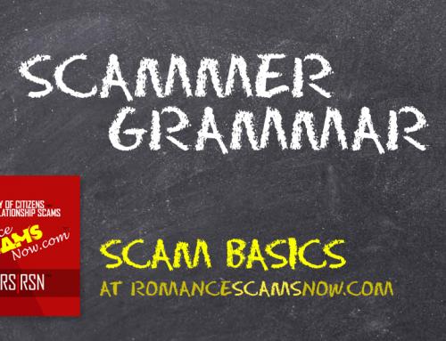 SCARS|RSN™ Scam Basics: Scammer Grammar!