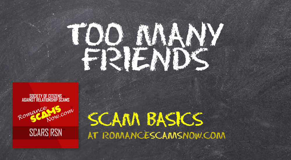 SCARS|RSN™ Scam Basics: Too Many Friends 1