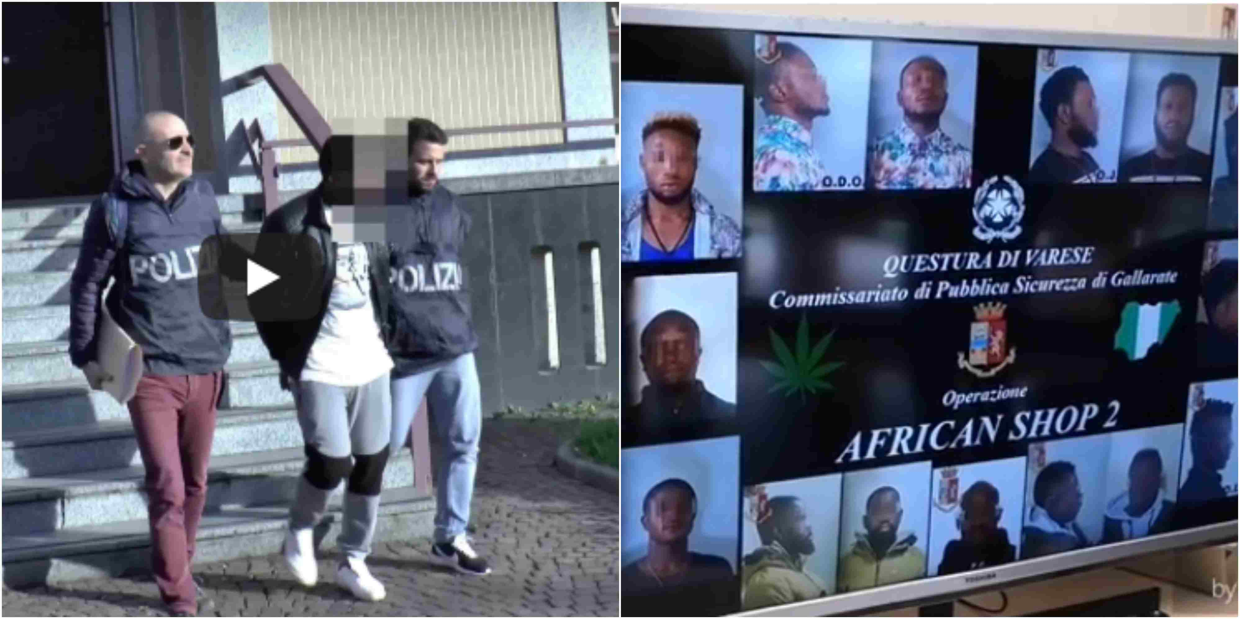 10 Nigerian drug dealers in Italy arrested by Police