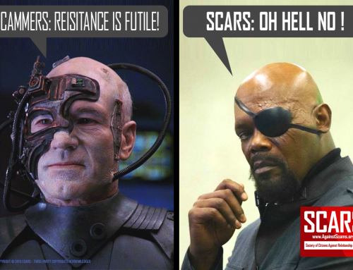 Resistance Is Futile – SCARS|RSN™ Anti-Scam Poster