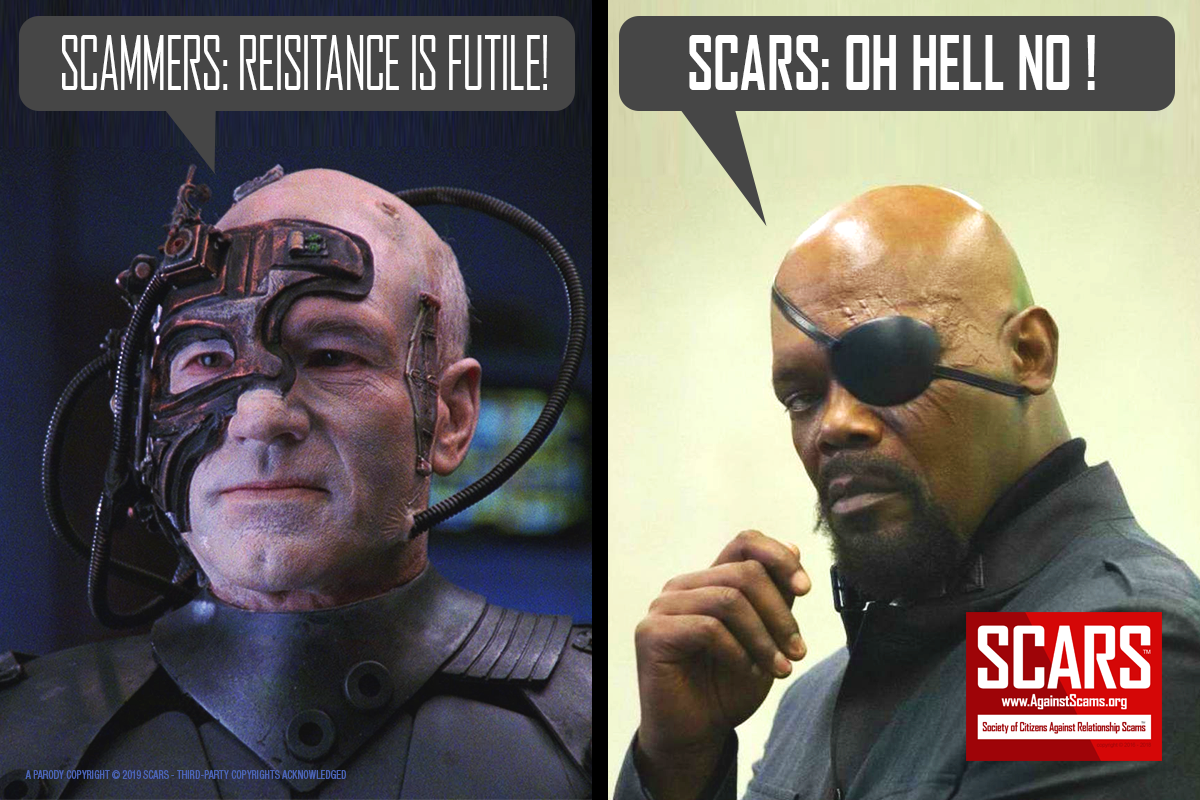 Resistance Is Futile - SCARS|RSN™ Anti-Scam Poster 1