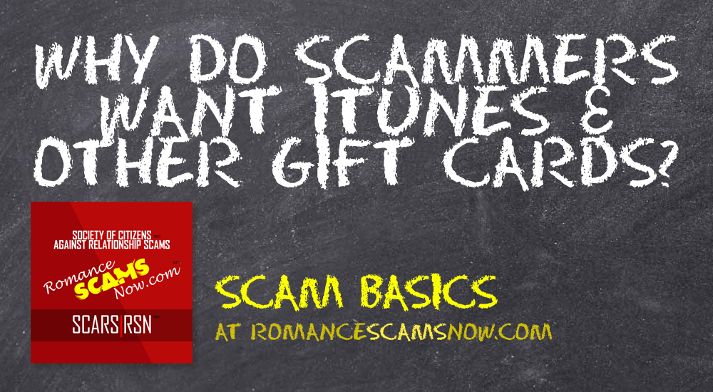 SCARS™ Scam Basics: What's Up With Gift Cards? 1