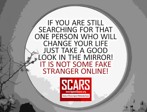 Look In The Mirror – SCARS|RSN™ Anti-Scam Poster