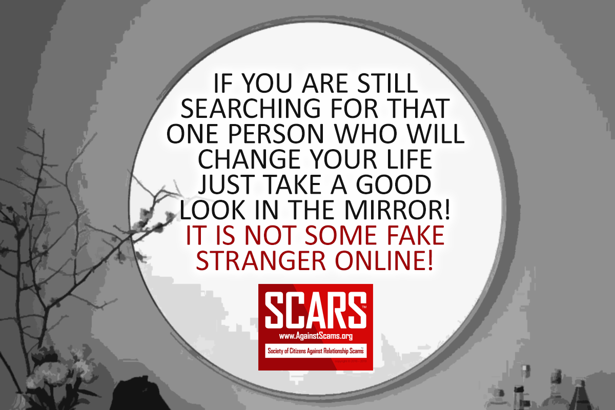 Look In The Mirror - SCARS|RSN™ Anti-Scam Poster 11