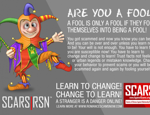 Don't Be A Fool – SCARS|RSN™ Anti-Scam Poster
