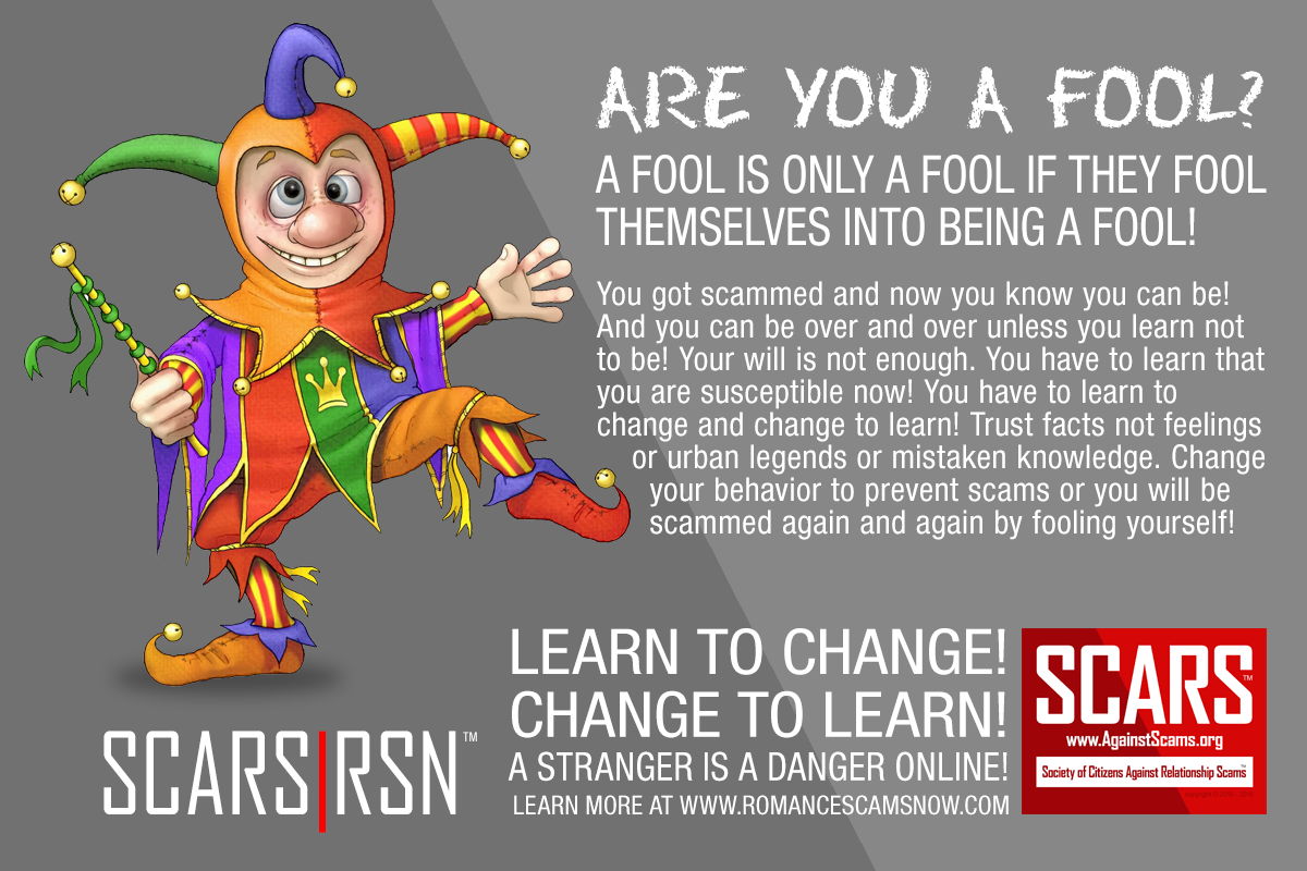 Don't Be A Fool - SCARS|RSN™ Anti-Scam Poster 14
