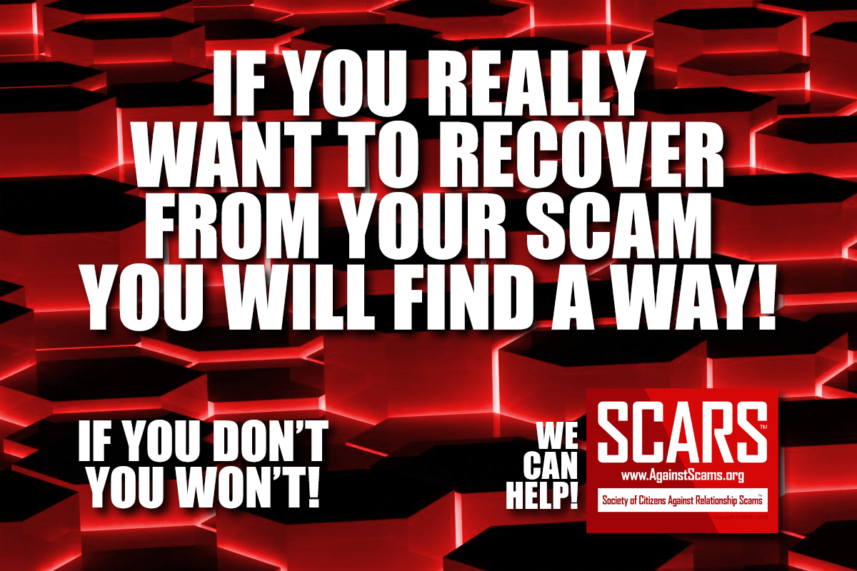 If You Really Want - SCARS™ Anti-Scam Poster 1