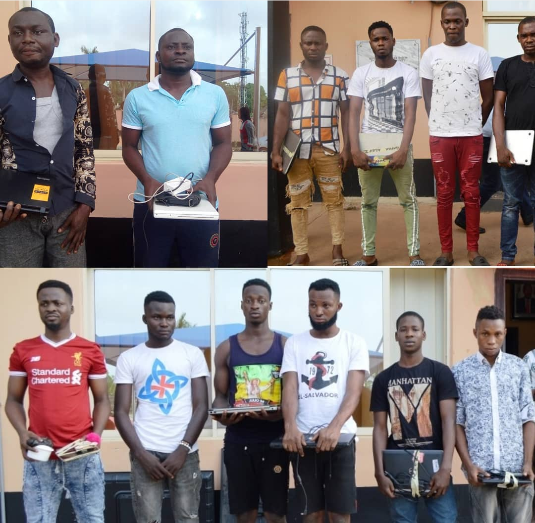 EFCC arrests 16 Yahoo boys in separate raids [PHOTOS] - Daily Post Nigeria