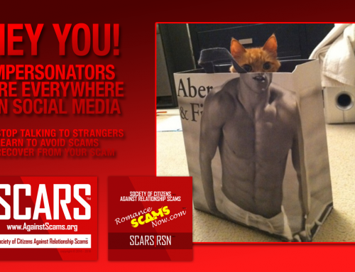 Avoid Impersonators – SCARS|RSN™ Anti-Scam Poster