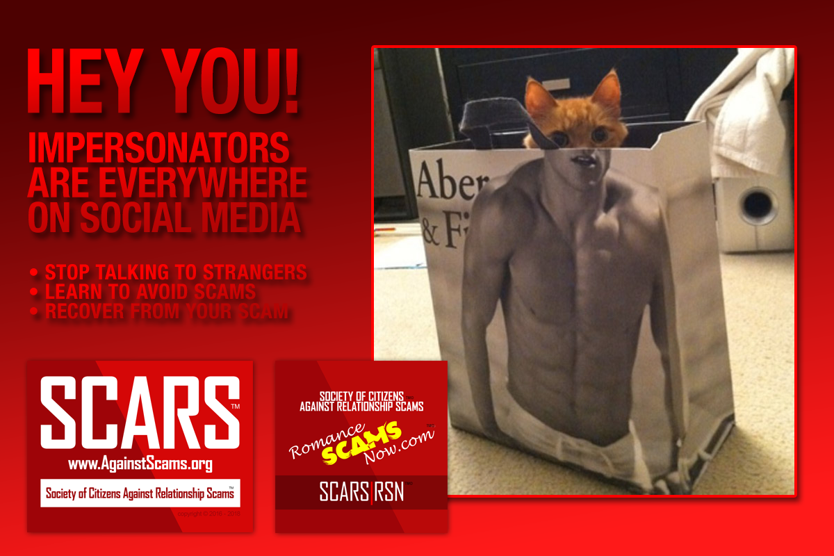 Avoid Impersonators - SCARS|RSN™ Anti-Scam Poster 2