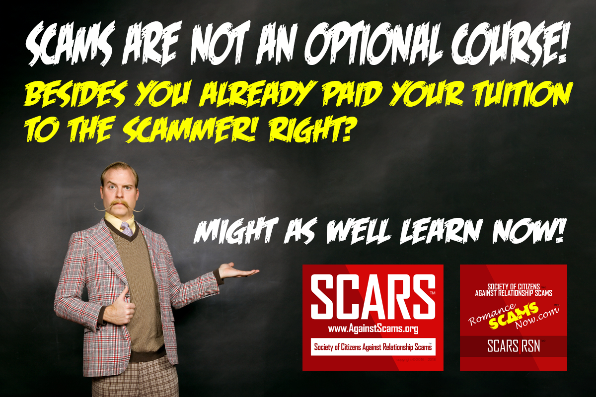 Learning Is Not An Option - SCARS|RSN™ Anti-Scam Poster 1
