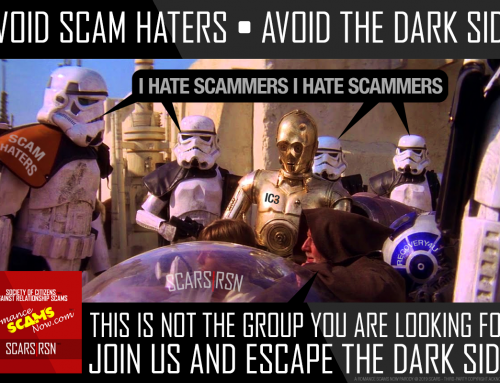 Avoid Scam Haters – SCARS|RSN™ Anti-Scam Poster