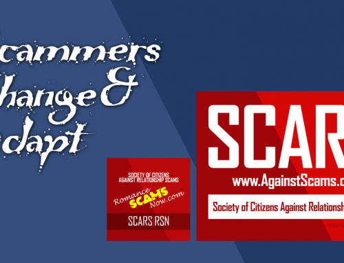 SCARS|RSN™ SCAM NEWS: Scammers Change And Adapt