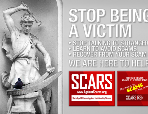 Stop Being A Victim – SCARS|RSN™ Anti-Scam Poster